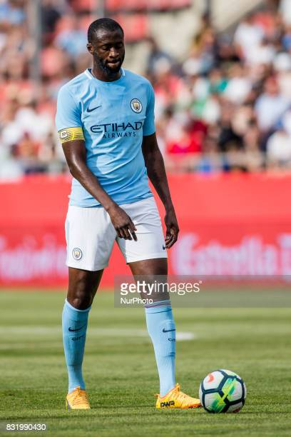 42 Toure Yaya from Ivory Coast of Manchester City during the Costa Brava Trophy match between Girona FC and Manchester City at Estadi de Montilivi on...