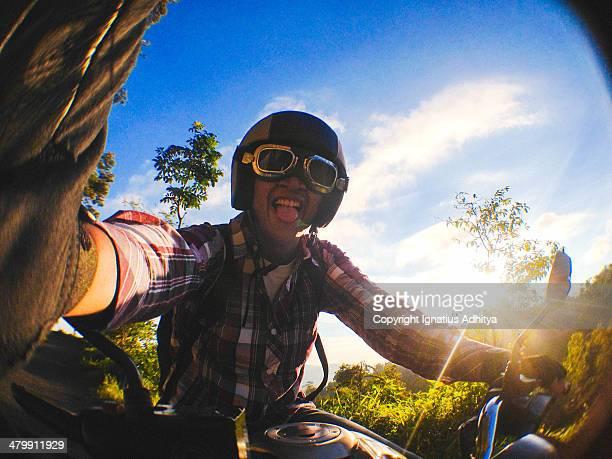 Touring selfie