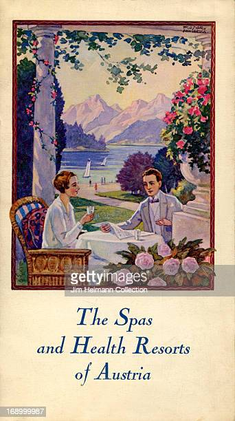 A tourism brochure for Austria reads 'The Spas and Health Resorts of Austria' from 1927 in Austria