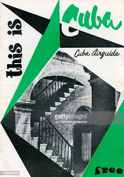 A tourism brochure for Cuba reads 'This Is Cuba Cuba Airguide' from 1955 in Cuba
