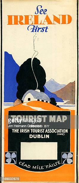 A tourism brochure for Ireland by the Irish Tourist Association reads 'See Ireland First' from 1925 in Ireland