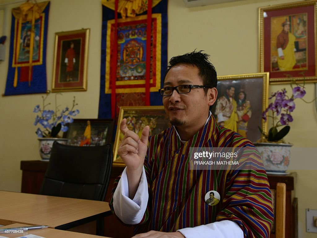 Tourism Council of Bhutan's media spokesperson Damcho Rinzin speaks during an interview with AFP in Thimphu on October 23 2014 Google provided a...