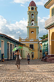 Tourism in Trinidad Cuba Iglesia y Convento de San Francisco which currently houses the museum of the Fight against Bandits who fought against Fidel...