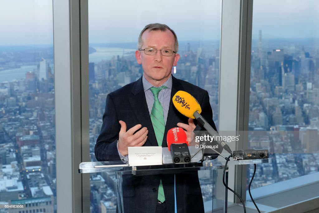 Tourism Ireland CEO Niall Gibbons attends as Tourism Ireland marks its St. Patrick's Day Global Greening Initiative at One World Observatory on March 17, 2017 in New York City.