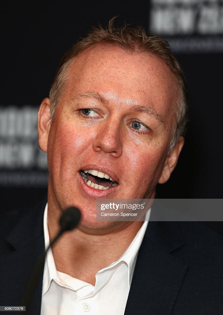 Tourism New Zealand general manager; Australia, Tony Saunders talks during a New Zealand Tourism press conference at Four Seasons Hotel on February 10, 2016 in Sydney, Australia.