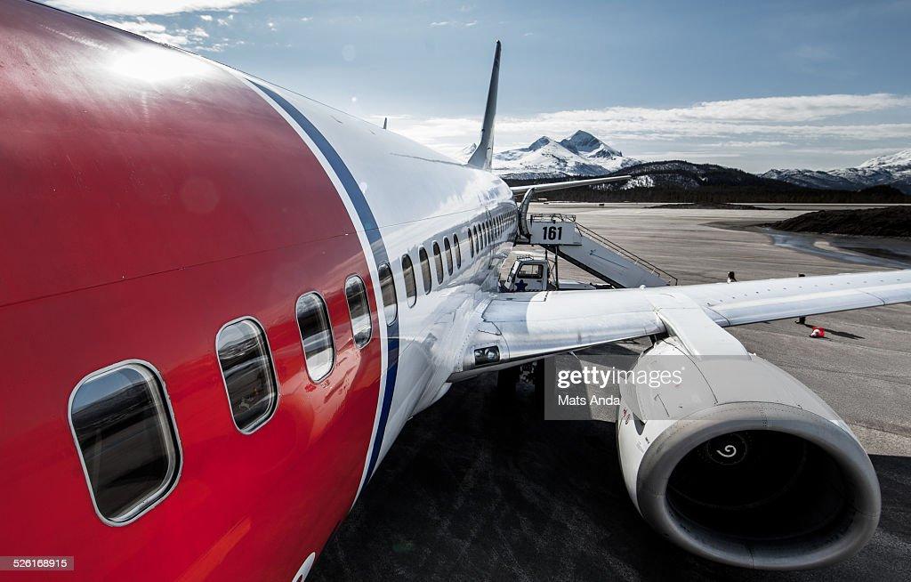 Tourist airplane bringing you around the world