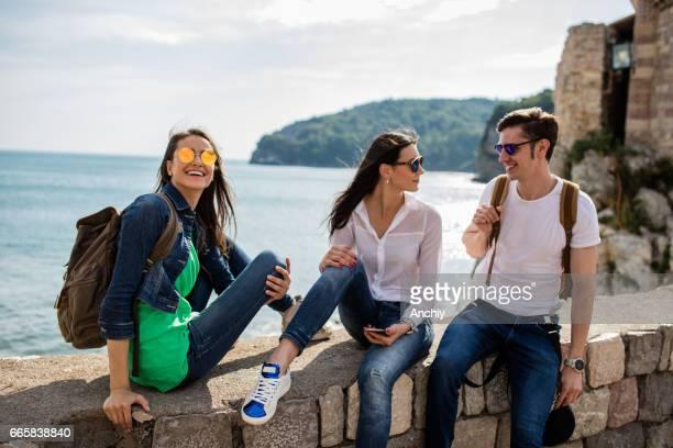 Tourist amazed ,close up