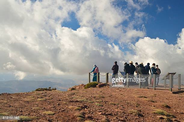 Touristes à toit de l'Afrique du Nord