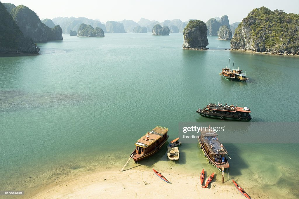 Tourist Boats In Halong Bay, Vietnam