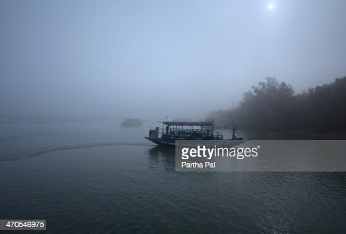 Tourist Bots sailing over river Matla,Sundarban