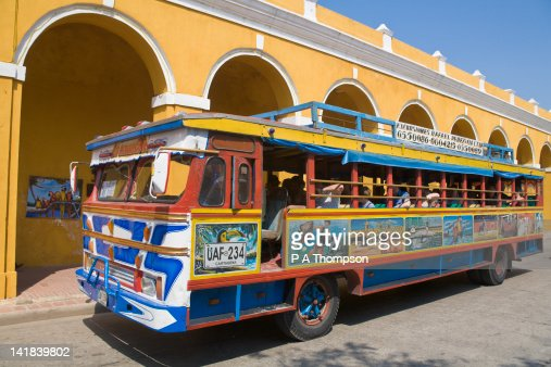 Tourist Bus, Chiva, Cartagena, Colombia : Stock Photo