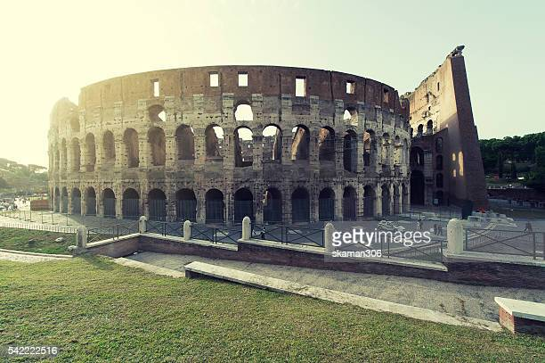 ROME ITALY  : 14 JULY 2013 Tourist come to see biggest Colosseum or coliseum