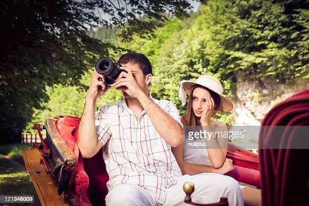 tourist paar genießen eine Fahrt