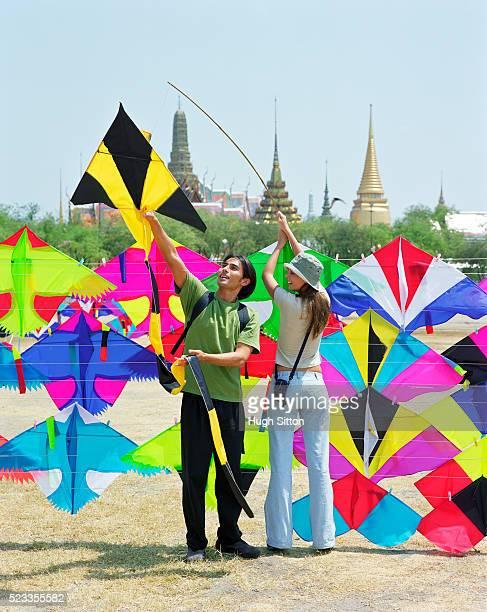 Tourist couple on vacations, Bangkok, Thailand