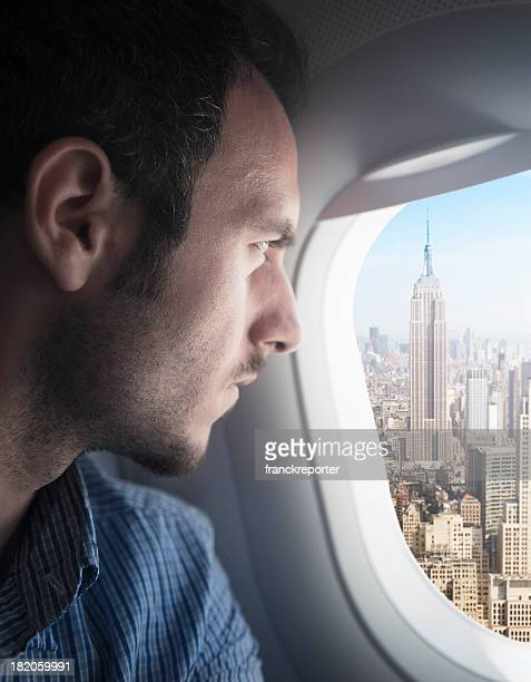 Survolant touristiques de la ville de New York, États-Unis