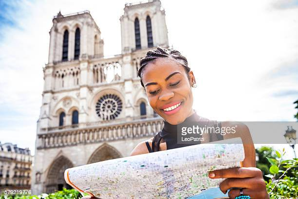 Tourist in Paris, in Notre Dame