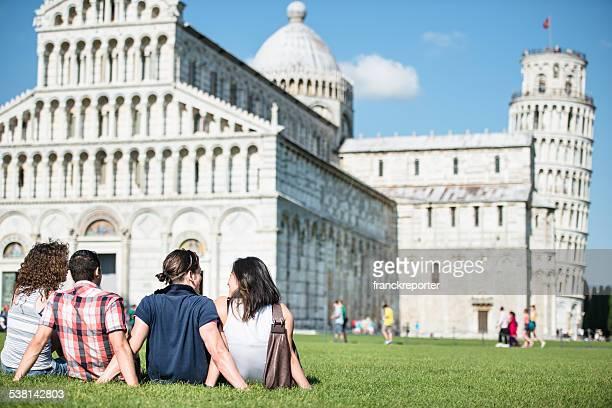 Tourist in Pisa, Italien