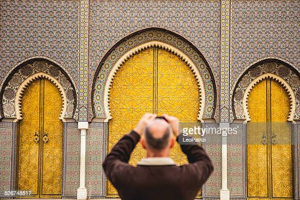 Tourist in Royal Palace in Fes