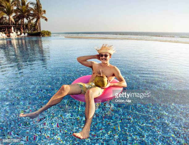 Tourist in the Swimming pool