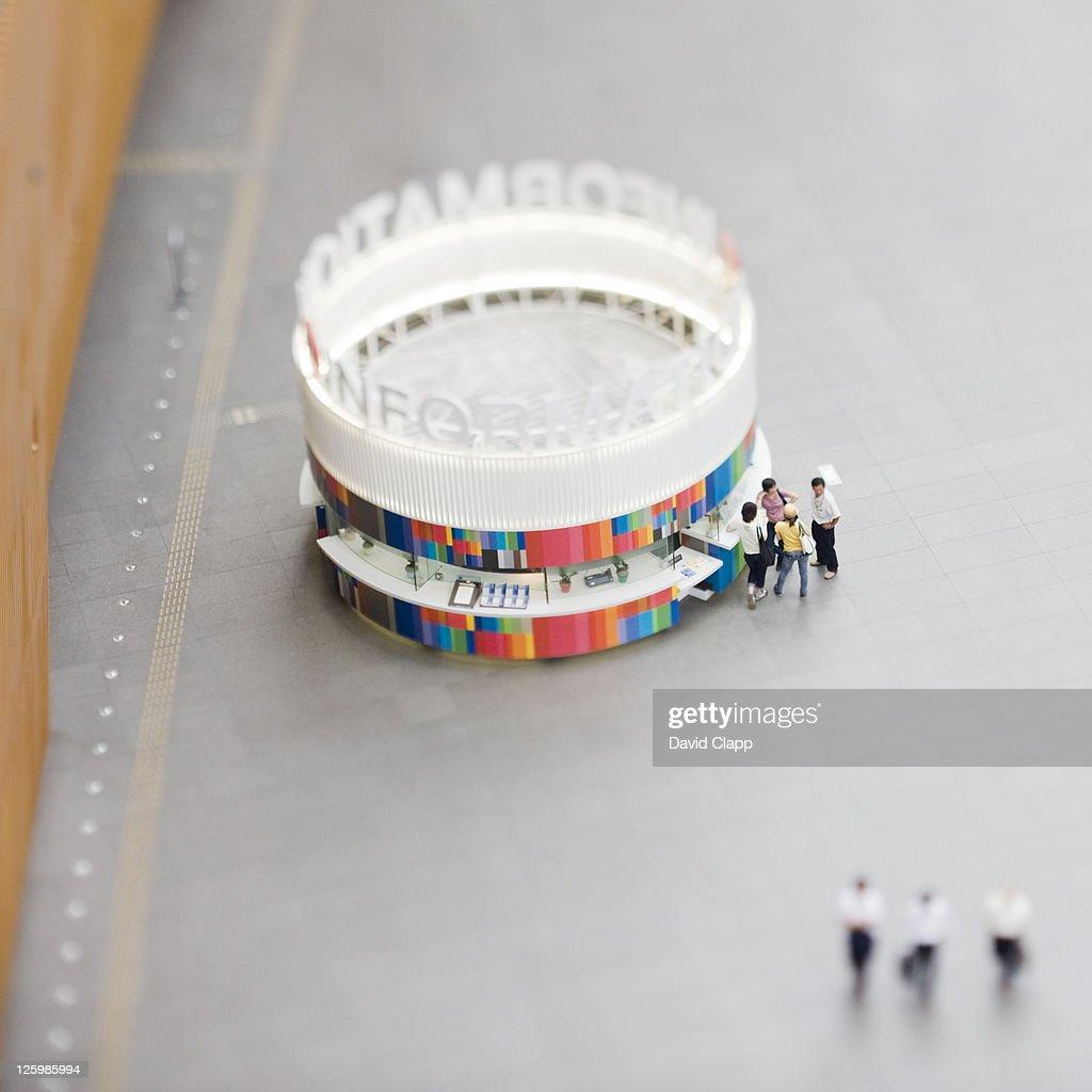 Tourist information booth, Tokyo, Japan : Stock Photo