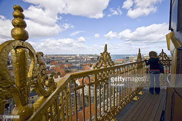 Tourist lookout over Christianshavn Copenhagen Denmark