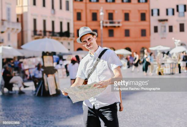 Tourist man in Italy