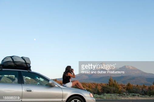 Tourist, Mt. Shasta, California