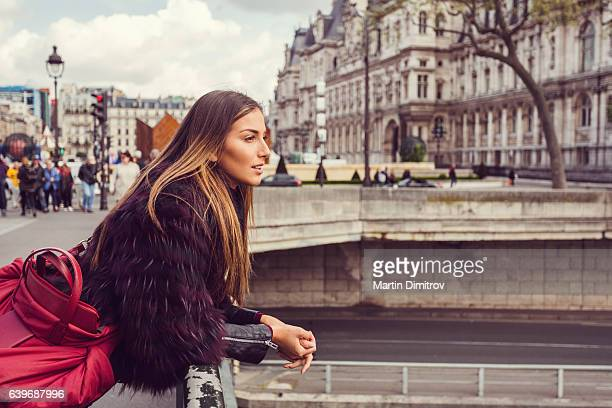 Tourist on a vacation in Paris