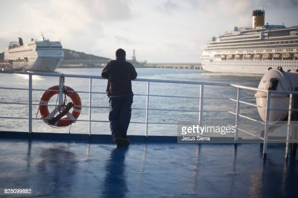 Tourist on Tour Boat