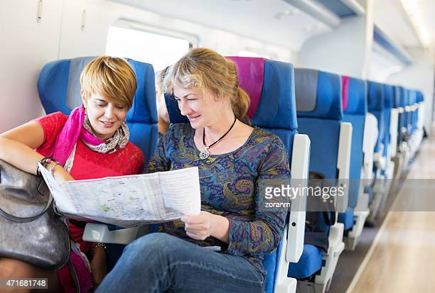 Tourist on train