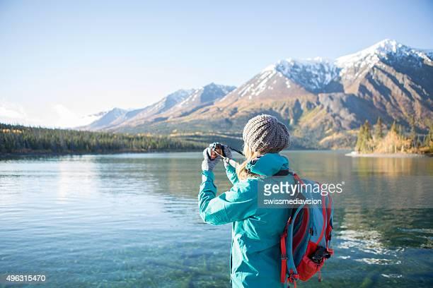 Touristen Fotografieren Landschaft in Kanada
