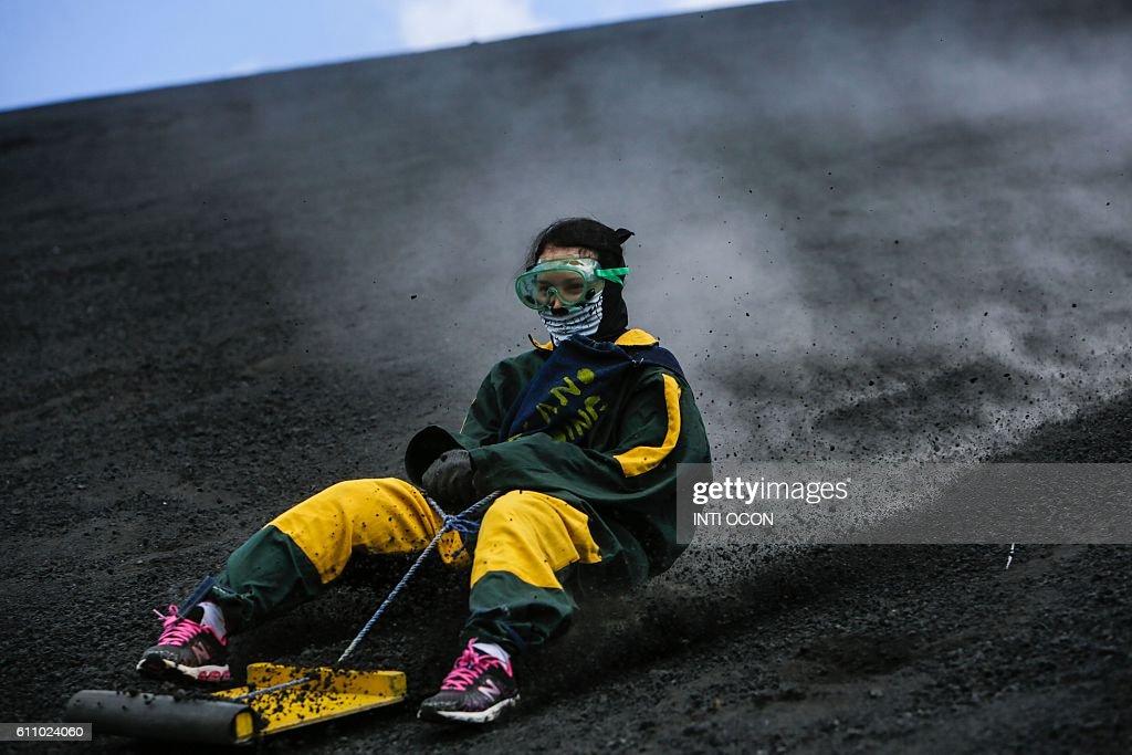 Sandboarding On A Volcano