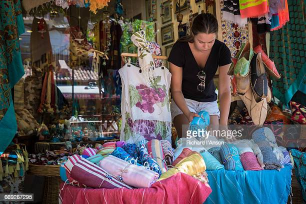 Tourist shopping in old town