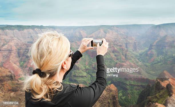 Tourist Traveling the Waimea Canyon of Kauai Hawaii Hz