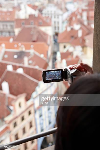 観光 videoing 街のプラハの屋根