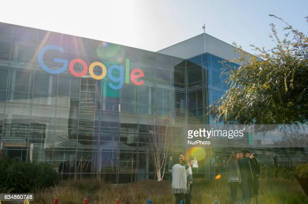 Tourist visit the headquarter of Google in Mountain View California