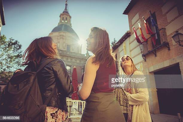 Tourist woman in Madrid