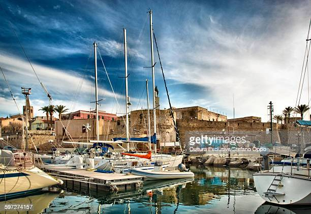 Touristic port of Alghero, Sardinia, Italy