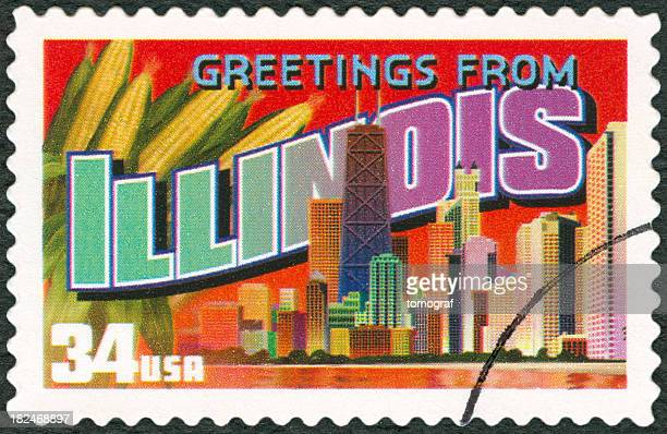 A touristic postal stamp of Illinois