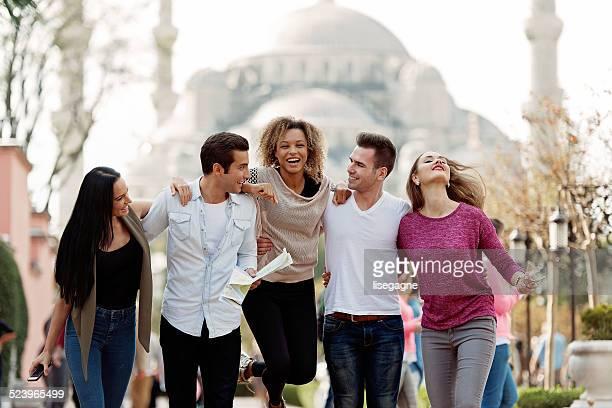 I turisti e i turchi amici di Sultanahmet