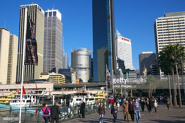 Tourists and visitors to Sydney enjoying Circular Quay