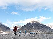Tourists ashore in Spitsbergen