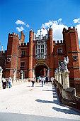 Tourists at Hampton Court