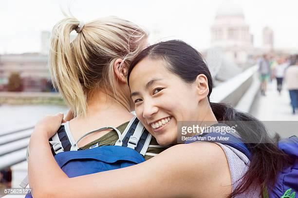 Tourists at London Millennium bridge