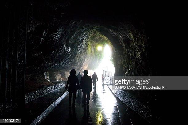 Tourists at Postojna Limestone Cave