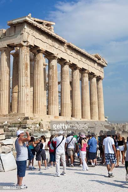 Tourists At The Parthenon In Athens, Greece