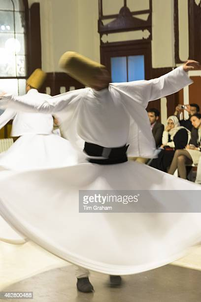 Tourists at Whirling Dervish ayin music performance Mevlevi Sema ceremony Istanbul Republic of Turkey#13#10
