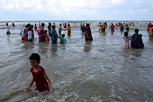 Tourists enjoy bathing at sea in Digha Digha in East Midnapore district of West Bengal is a seaside resort town about 187 kms from Kolkata It has a...