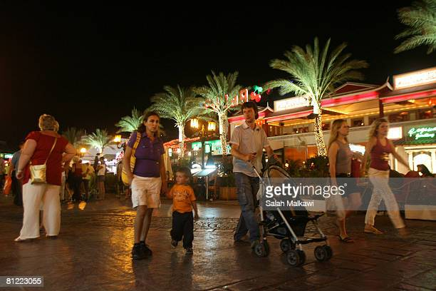 Tourists enjoy walking in Naama Bey where they usualy prefer to go to clubs cafes restaurants and discos on May 20 2008 in the south Sinai peninsula...