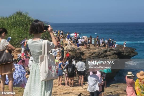 Tourists in Devil's Tears, Nusa Lembongan